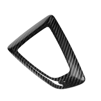 Black Car Gear Shift Knob Cover Decoration Carbon Fiber For BMW F20 F30 F25 F26 F15 High Quality Gear Shift Knob Cover Stickers