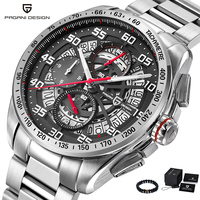PAGANI Design Luxury Brand Man Watch Quartz Military Sport Watch Men Stainless Steel & Leather Big Dial Wrist Watches For Men