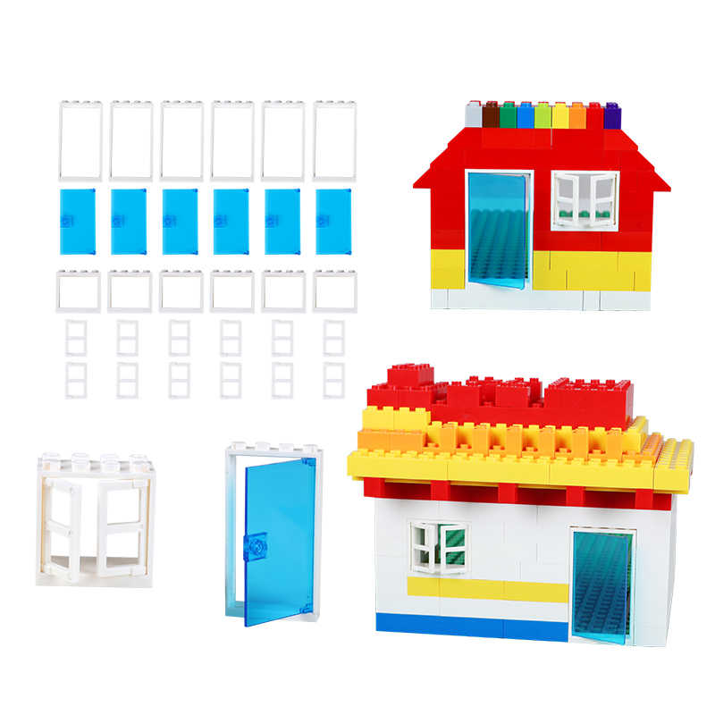 DIY Classic Blocks Accessories Window/Car Wheels/ Flower Complement Base Blocks Educational Toy Compatible With LegoED Bricks