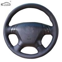 Genuine Leather car steering wheel Cover for Honda Accord 7 2004 2007 /dedicated Steering Wheel Handlebar Braid