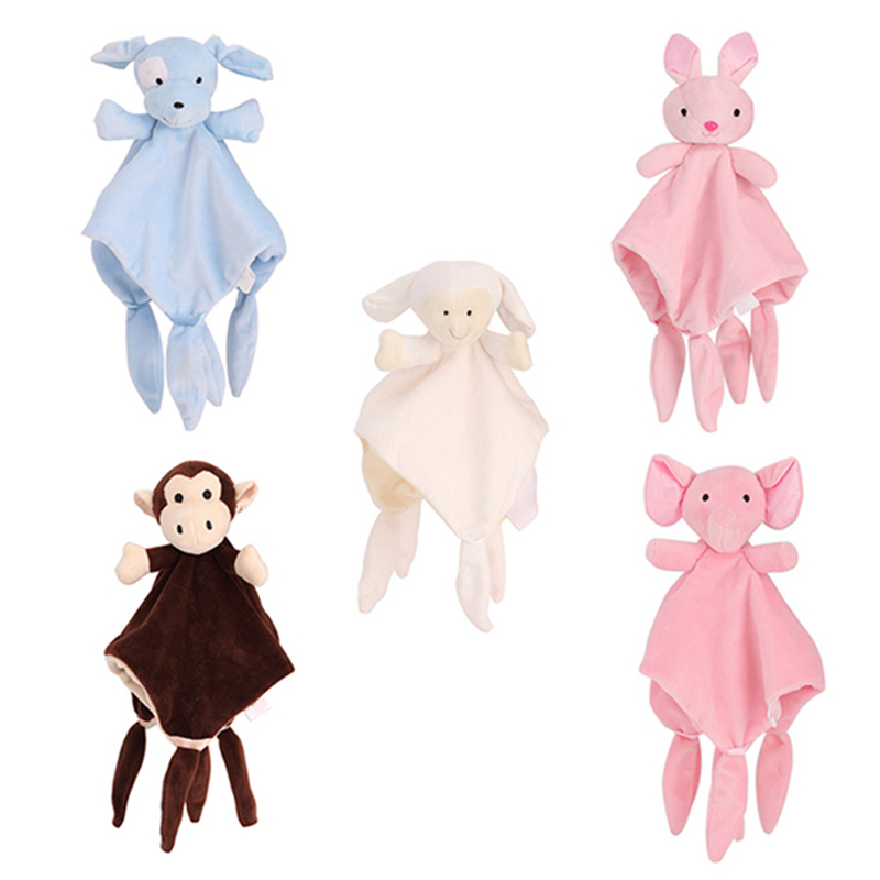Baby Comfort Towel Appease Towel Soothe Sleeping Soft Toys Children Educational Toy New Baby Bed Bell 0-24M