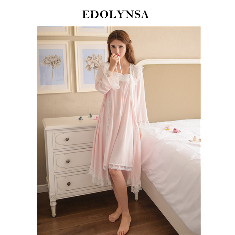 Robe de nuit en dentelle pour femme