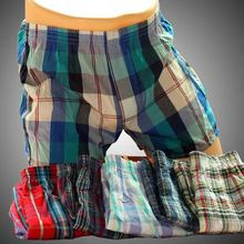 1Pcs Top Quality Men Cotton Sexy underwear Men Boxers Shorts Loose breathable Man Underpants male cuecas
