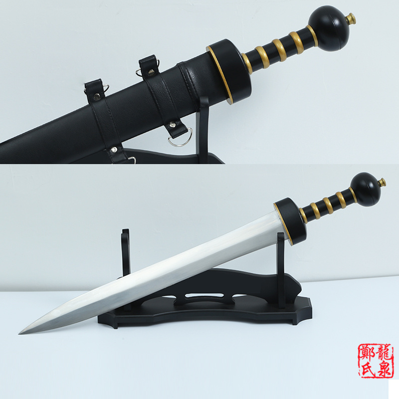 31 Roman Gladius Sword Maximus Gladiator Blade 1060 High Carbon Steel Fight Ready Wooden Scabbard Brand