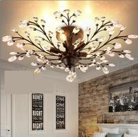 Американский кантри Утюг кристалл потолочный светильник Северной Европы творческой ресторан вход исследование спальня гостиная лампы FG711
