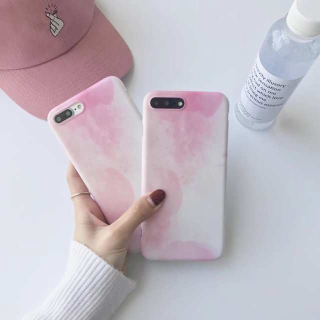 new product bdf3a b4d2c US $3.27 |Simple Fashion Girl For iPhone 7 7plus Case Marble Pattern Light  Pink Color Soft IMD TPU Cover Case for iPhone 6 6s Plus Lovely-in Fitted ...