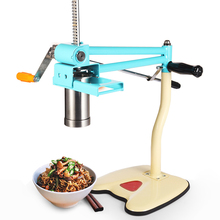 Stainless Steel Manual Noodle Press Machine With 4 Molds For Vermicelli Spaghetti Linguine Pasta Maker Tools Kitchen Accessories stainless steel kitchen pasta noodle press machine vegetable fruit juicer handle noodle making machine with 5 noodle molds fen