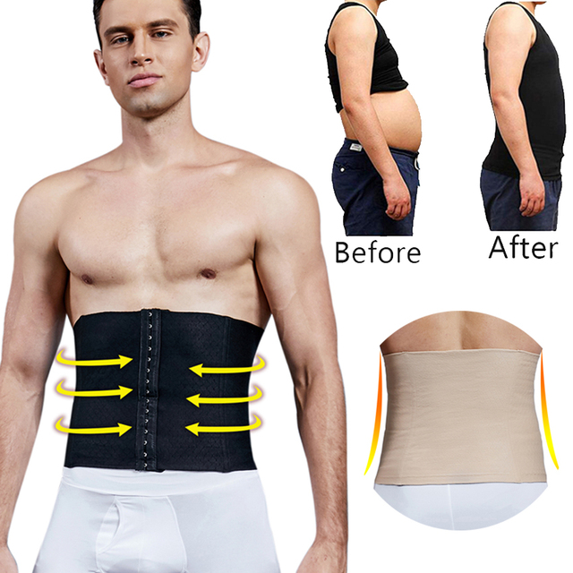 Men's Waist Trainer Sweat Slim Belt for Men Sauna Slimming Vest Waist Cincher Body Shaper Fitness Shapewear Tummy Corset