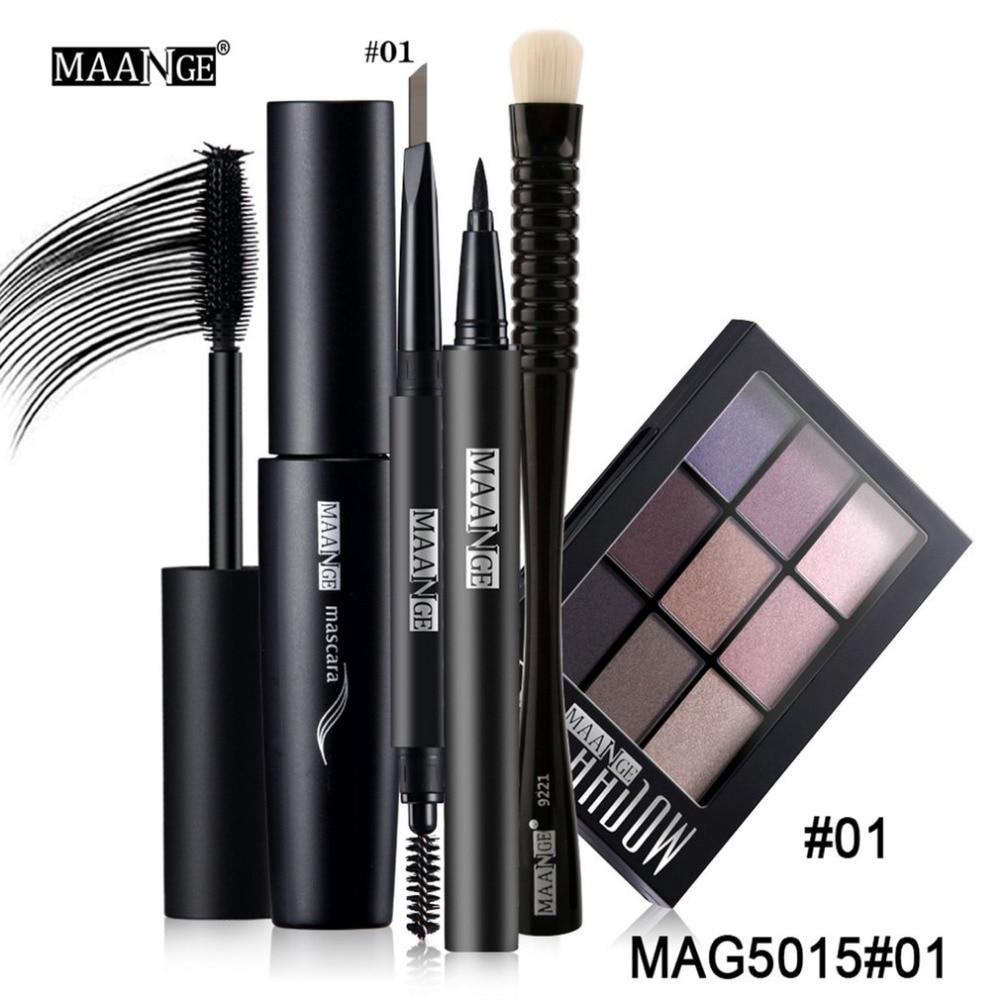 MAANGE Professional Makeup Set Kit 5 PCS/Set Make Up Tools = Eye Shadow Brush + Eyeliner + Eyebrow Pen + Mascara + Eyeshadow