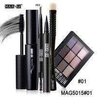 MAANGE Beginners Makeup Set 5 PCS Set Make Up Tools Eye Shadow Brush Eyeliner Eyebrow Pen