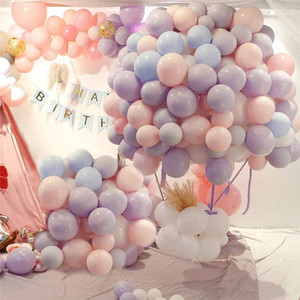 Image 4 - 30/50 Uds. De 5 globos de macarrón de látex para decoraciones para fiesta de cumpleaños, baby shower, boda, grandes suministros para eventos