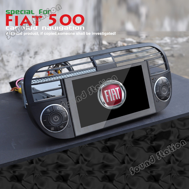 for fiat 500 cinquecento gps navigasyon centrais multimidia headunit automotivo car dvd media. Black Bedroom Furniture Sets. Home Design Ideas