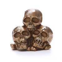 JAYQUERING Personality New Three Skulls Halloween Decoration Resin Creative Terror Ghost Gead Home Accessories Home Decor RS8012