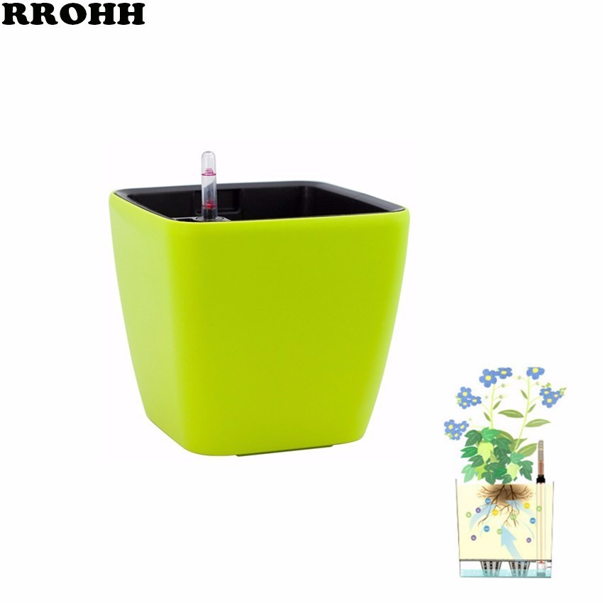 Creative Automatic Water Absorption flowerpot for Desktop Indoor Office decoration Large Plastic Lazy flower Pot Hydroponics