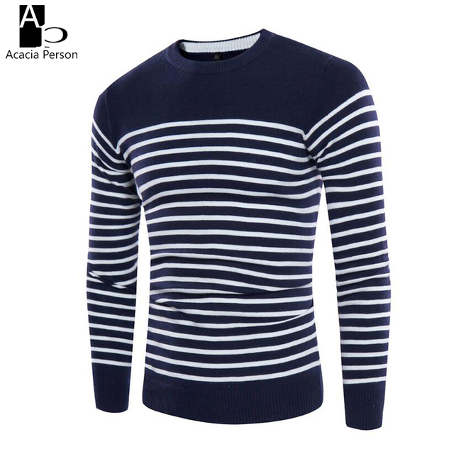 Men Knitted Sweaters O Neck Jumper Mens Cotton Pullover Knitting