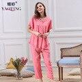 YT17 2017 New Fashion Open Button Women's Summer Clothing Pyjamas Plus Size Soft Cotton Sleep & Lounge Pajama Sets Pijama Mujer