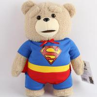 High Quality Cute Superman Teddy Bear Plush Toys Brithday Gift Toys For Children 40cm