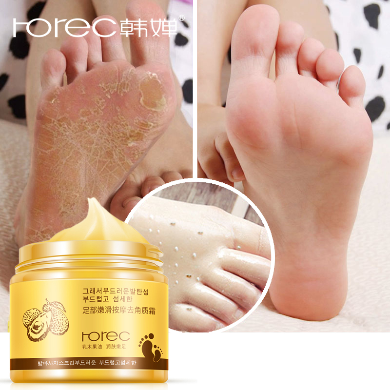 ROREC Foot Cream Foot Mask Exfoliation For Feet Massage Cream Feet Care Dead Skin Removal Smooth Cream Against Cracks Foot Peel