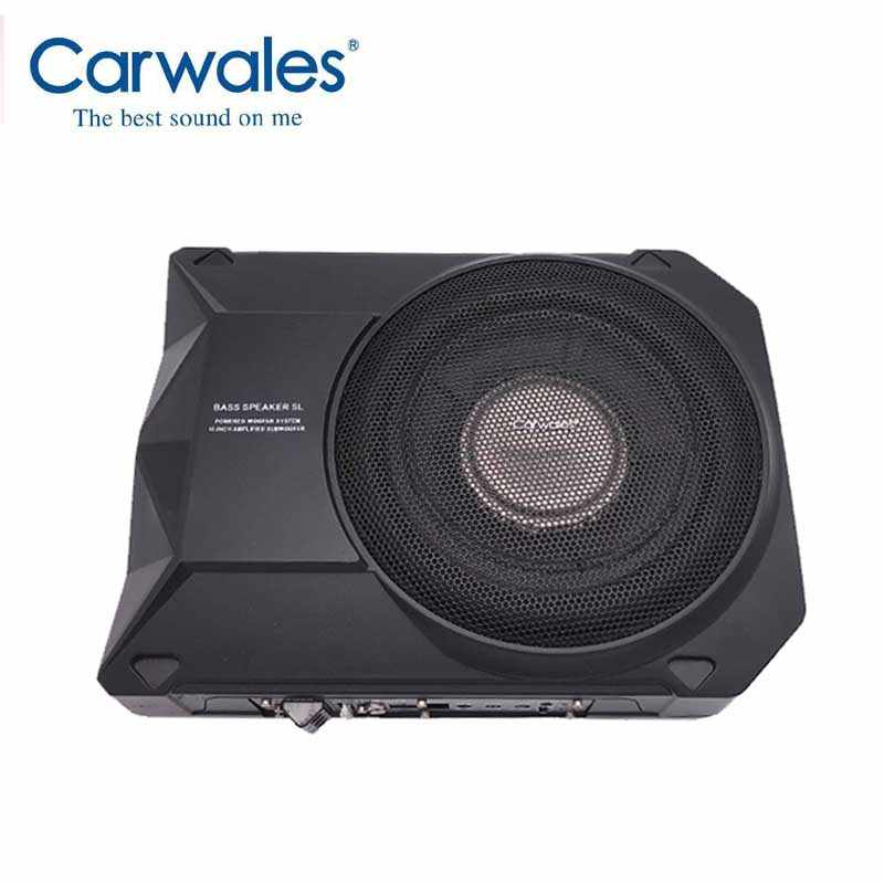 Carwales Car Powered Woofer System Amplified Subwoofer 10 inch Car Audio Active Sub Woofers Car Slim Flat Sub Woofers