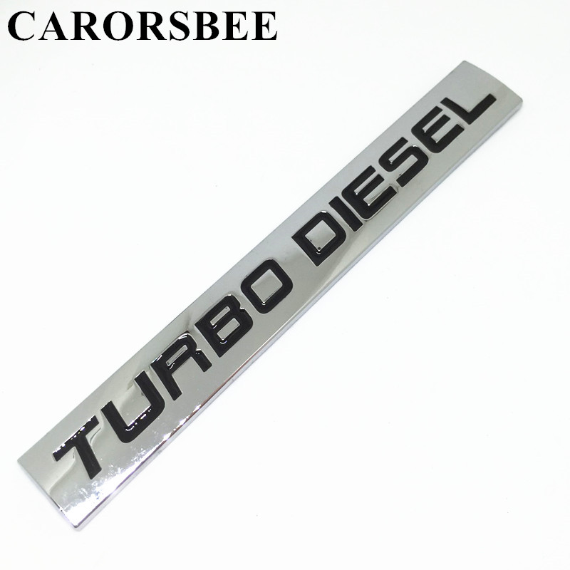 CARORSBEE Metal Zinc alloy TURBO DIESEL letter Emblem Badge Decal Auto Rear Trunk accessories car styling Automobiles stickers auto car chrome turbodiesel turbo diesel emblem badge sticker