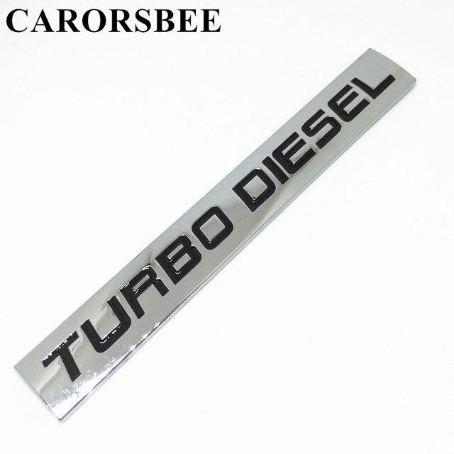 Carorsbee Metall Zink Legierung Turbo Diesel Emblem Abzeichen