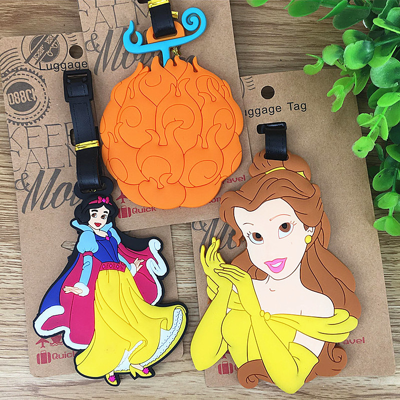 Travel Accessories Luggage Tags One Piece Fruit Fairy Tale Princess Suitcase ID Addres Holder Baggage Boarding Portable Label
