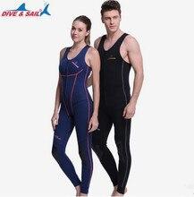 Professional Scuba Diving Clothes Women 1.5MM Neoprene Full Suit Super Stretch Wetsuits Black BigSize Men Beach Surf Diving Suit