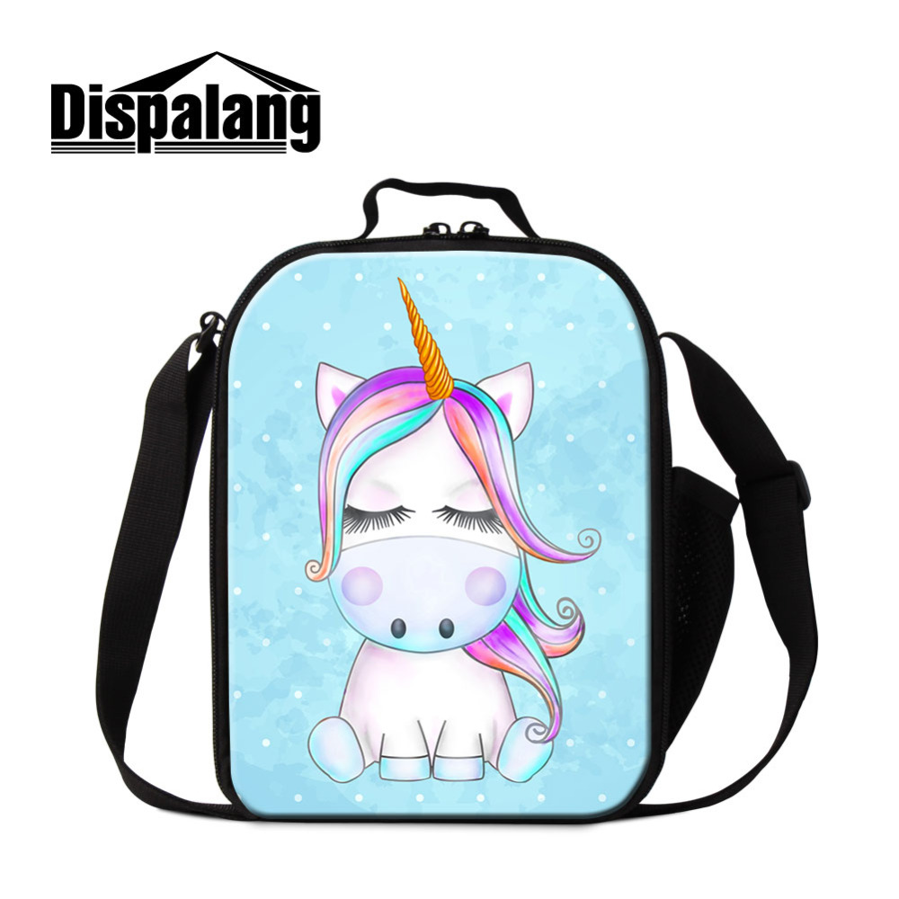 US $16 89 35% OFF|Dispalang Unicorn Lunch bag Portable Insulated Picnic Box  Cartoon Kids Thermal Lunch box Food Picnic Bag Girls Cooler Bag-in Lunch