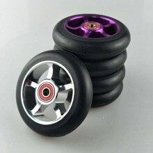 2 шт/комплект 88A 100 мм колеса скутера алюминиевый сплав Сталь ступицы колеса высокая эластичность и точность конькобежный спорт колеса A103