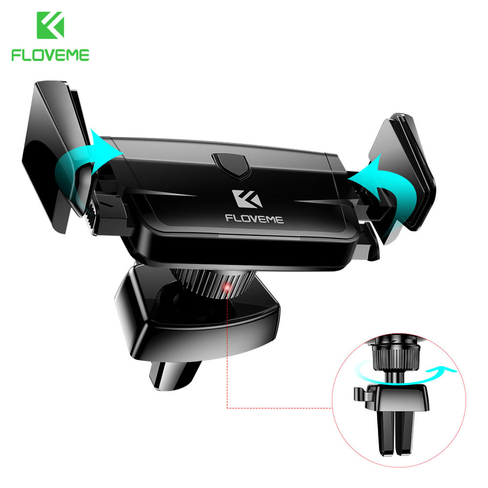 FLOVEME Universal Car Holder For iPhone 6 6s 7 Plus Rotatable Air Vent Mount Car Phone Holder Flexible GPS Stand For Samsung S6