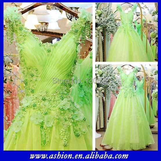 We 1563 Free Shipping Y Lime Green Wedding Dresses Muslim Real Sample