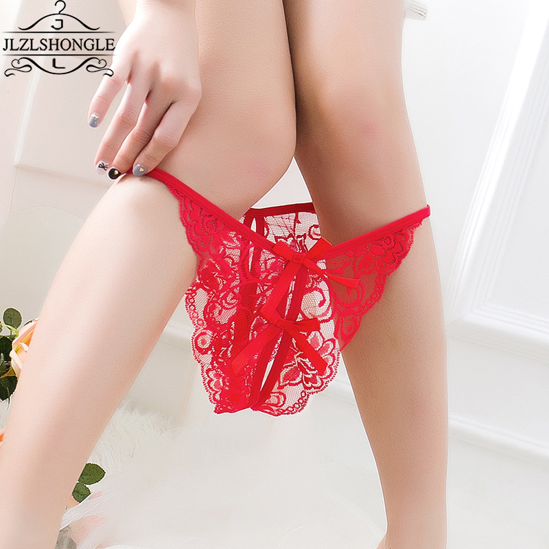 Buy New Arrival Sexy Women Lace Open Back Crotch Sexy Panties Transparent Hollow Thong Women Briefs Underwear G String Bragas Mujer