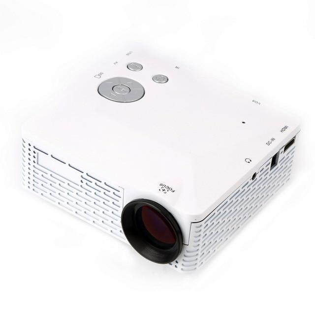Мини СВЕТОДИОДНЫЙ Проектор Пико Портативный Proyector 3D Проектор HDMI Домашний Кинотеатр Проектор Мультимедиа Видео Full HD 1080 P США Plug белый