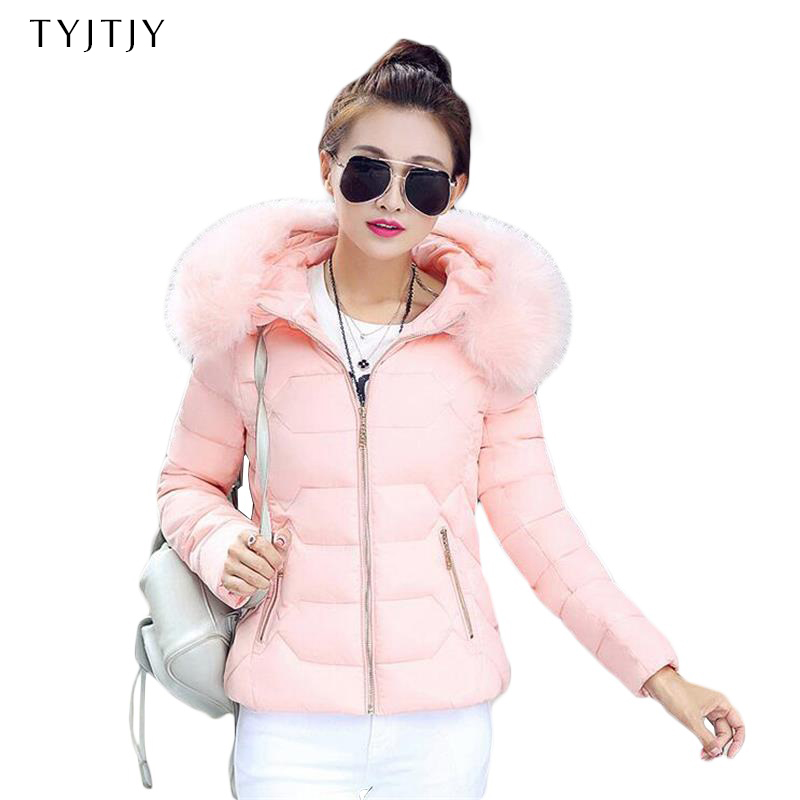 Winter   Parka   Women 2019 Thick Warm Hooded Women's Winter Jacket And Coat Female Outwear Lady Pink Black Gray Blue