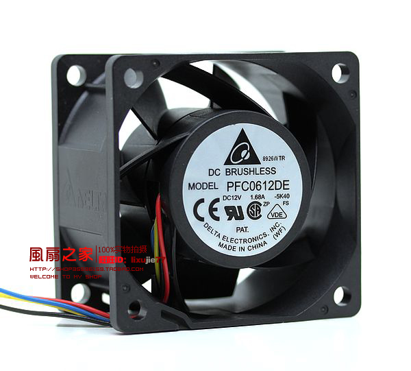 Free Shipping For Delta 6CM 60MM 6*6*3.8CM 60*60*38MM 6038 12V 1.68A super violent winds fan PFC0612DE free shipping y s tech 6cm 60 60 10mm 6 6 1cm 6010 fd126010hb 12v 0 24a 3wire cooling fan