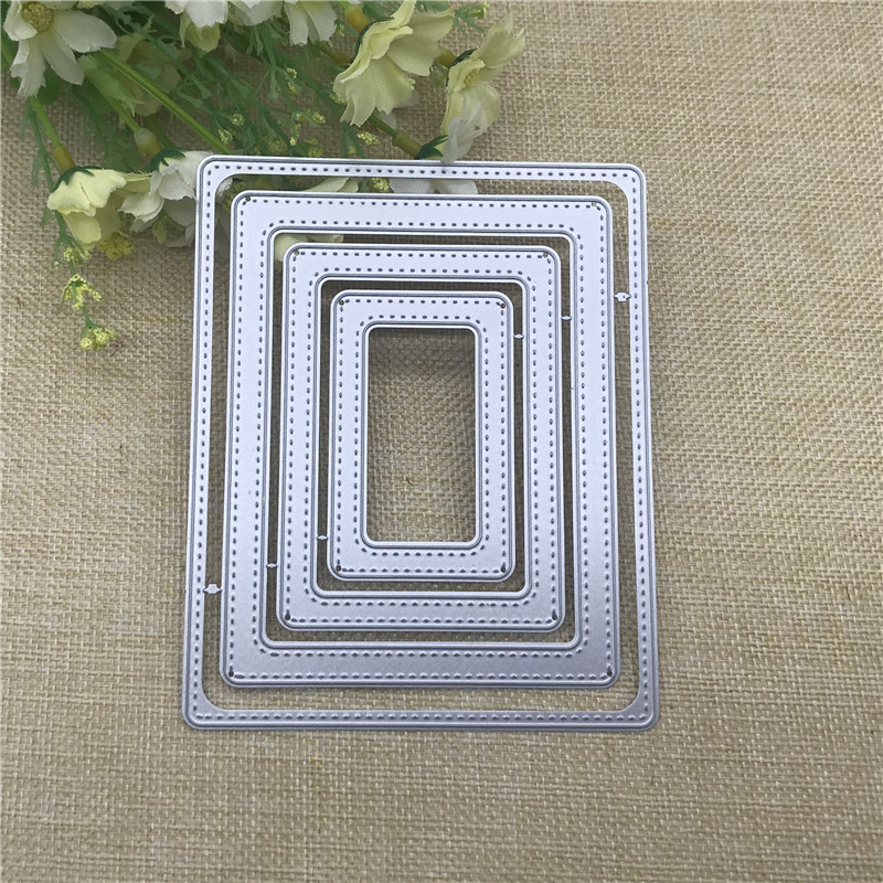 Stitched Rectangle Frame Metal Cutting Dies Stencils For DIY Scrapbooking Decorative Embossing Handcraft Die Cutting Template