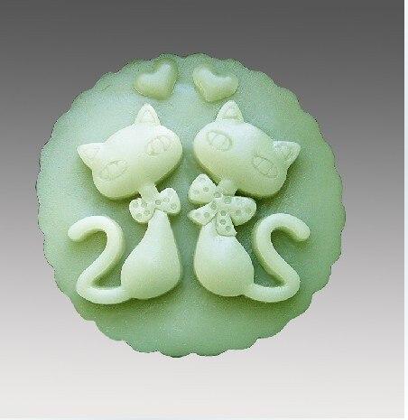 Silikonová forma láska kočka ručně vyráběné mýdlo svíčka plísní Čokoláda Fondant dort forma Pečení forma DIY nástroje