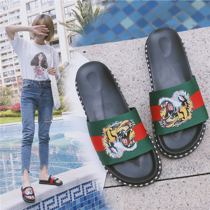 PHYANIC Новый 2018 летние дамские слипперы Ткань Шлепанцы женские вьетнамки на платформе Повседневное пляжные сандалии женская обувь