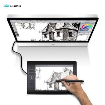 Huion Новинка 1060 плюс Профессиональный цифровой планшет для рисования 8192 уровней давления ручки 12 горячих клавиш графические планшеты с двум...
