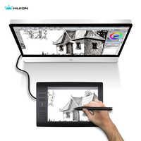 Huion nouveau 1060 Plus professionnel tablette de dessin numérique 8192 niveaux stylo pression 12 HotKey tablettes graphiques avec deux stylos numériques