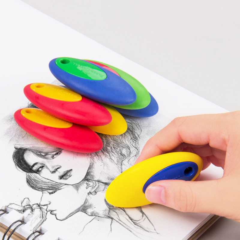 4Pcs Faber Castell Colored Egg Rubber Eraser Professional Sketch Drawing Design Pencil Creative Art Stationery Supplies
