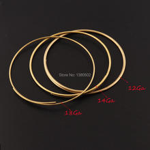 12Ga/14Ga/16Ga Artistic Copper Wire 10inch/pcs Dead soft Solid Wrapping Beading Cord Findings DIY Jewelry wire