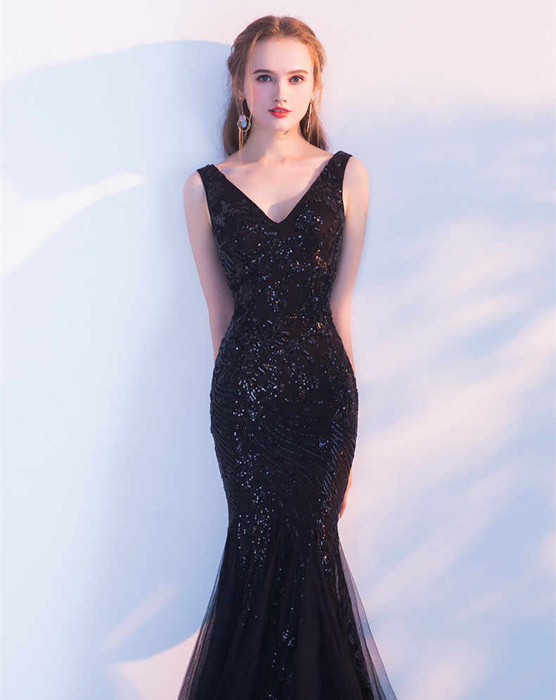 Detail Feedback Questions about JaneVini Black Mermaid Prom Dresses ... 352a629e102b