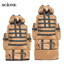 Military Bags Army Tactical Backpack Molle Camping Bag Rucksack Large Travel Backpacks Hiking Sac Militaire Sports Camo XA304WA