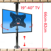 2019 new A10X 66 17 40 stainless steel LCD TV stand mounts bracket in Partition wall 360 rotate height adjust 110cm 86cm 114cm