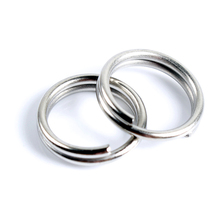 Topline Tackle 50pcs Stainless Steel Split Rings High Quality Strengthen Solid Ring Lure Connecting Fishing Accessories