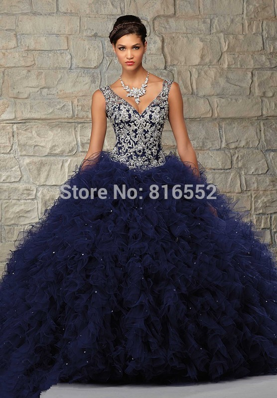 Popular Navy Blue Quinceanera Dresses-Buy Cheap Navy Blue ...