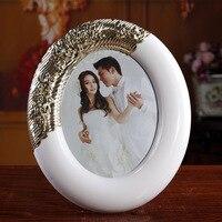European Quality ABS White Frame Elliptical 8 Inch Frame Wedding Gifts Studio Set Up SK702
