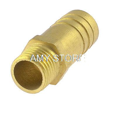 13mm 1/4 BSPT Male 14mm Hose Barb Nipple Brass Gas Quick Coupling Connector brass pneumatic pipe 1 4 bspt to 1 4 bspt male thread m m equal union hex nipple