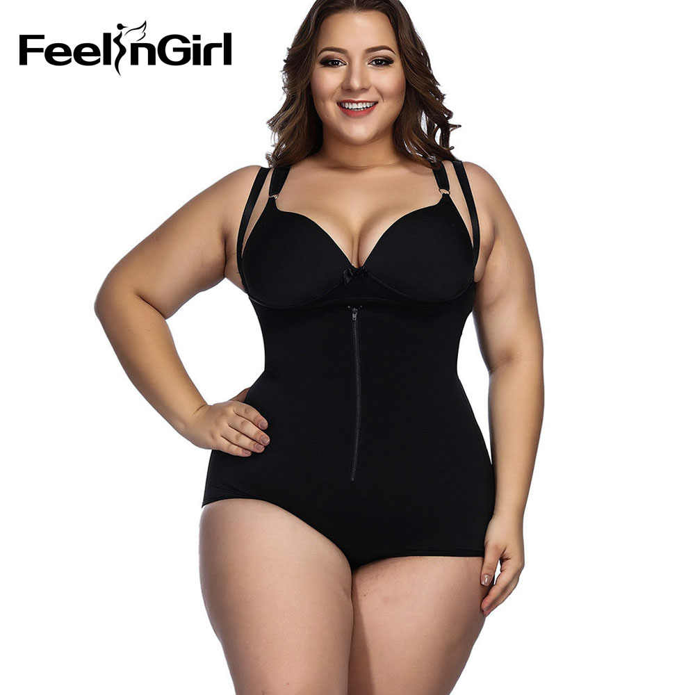 74d042bfba ... FeelinGirl Body Shaper Fat Control Shapewear Full Body Bodysuits Women  Plus Size Underwear Slimming Shapewear Butt ...